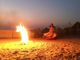 Fire dancing. Tordi Sagar, India